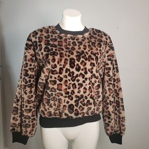 Wild Fable Faux Leopard Fur Sweater NWT